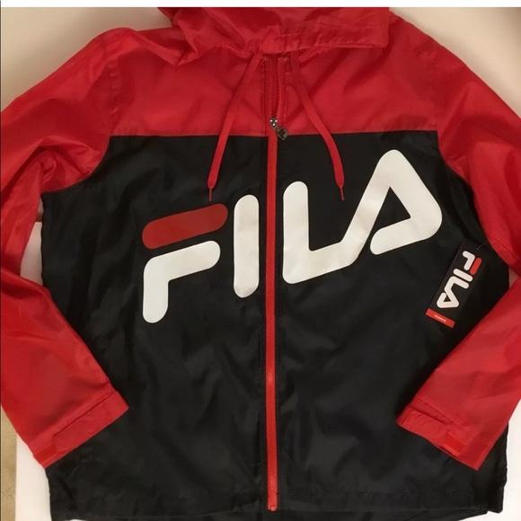 Fila Other - FILA Retro Windbreaker Medium 90s Hooded Jacket